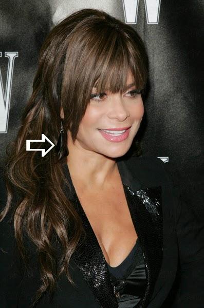 Paula Abdul wearing earrings by Jenny Dayco