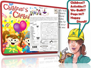 Happy Diwali:  Children's Book Of Celebration 2011, collage by wobuilt.com