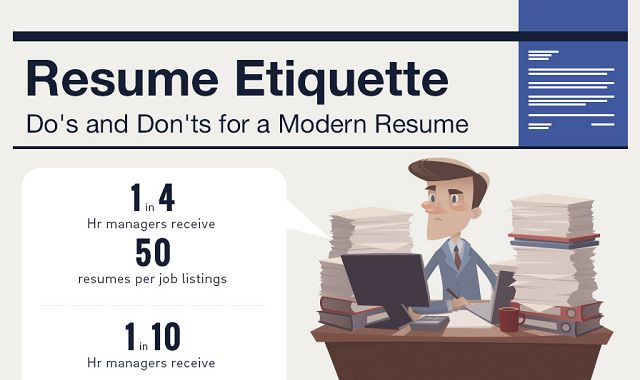 resume etiquette dos and donts for a modern resume infographic