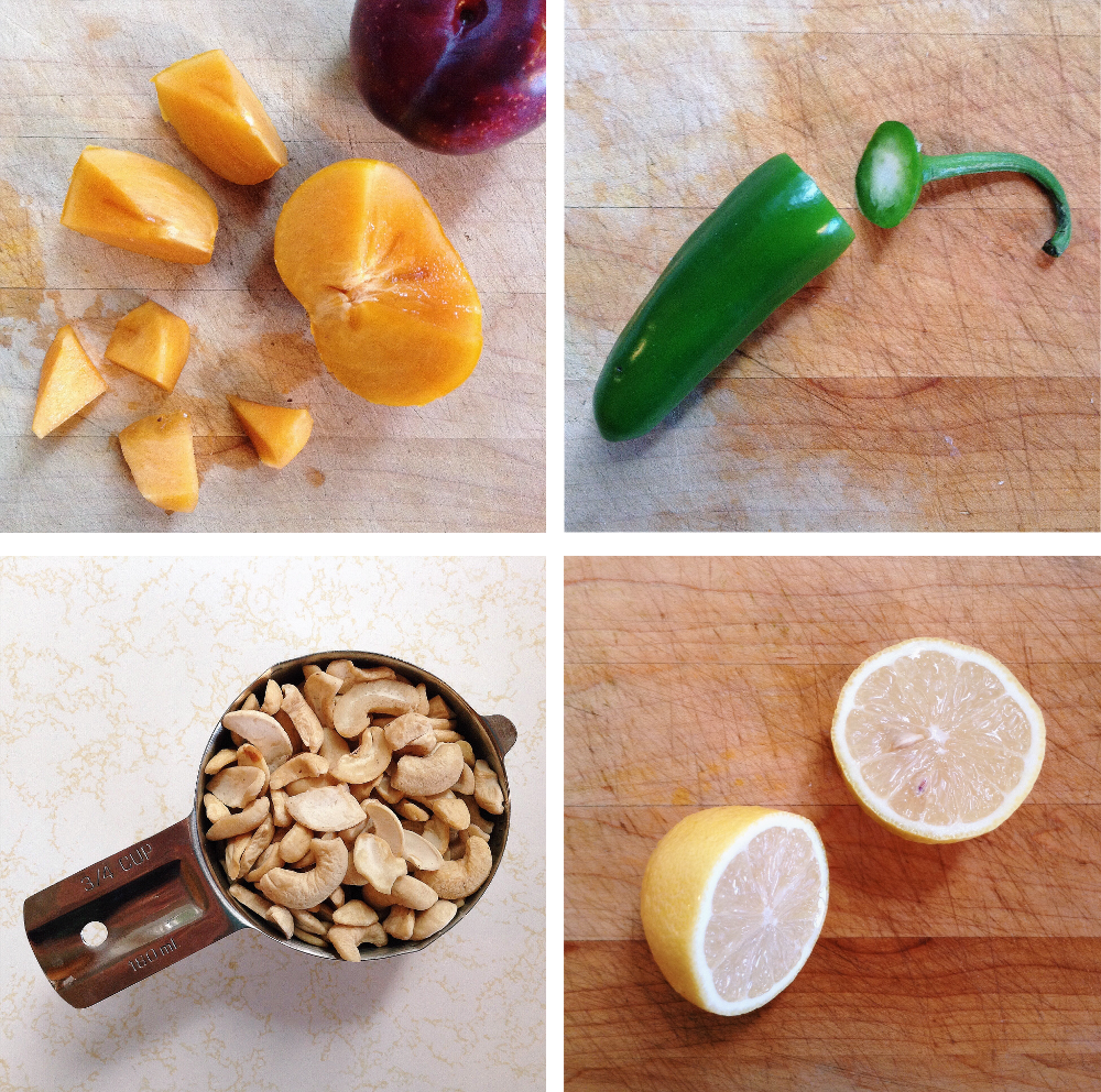 Fruit Kimchi Ingredients