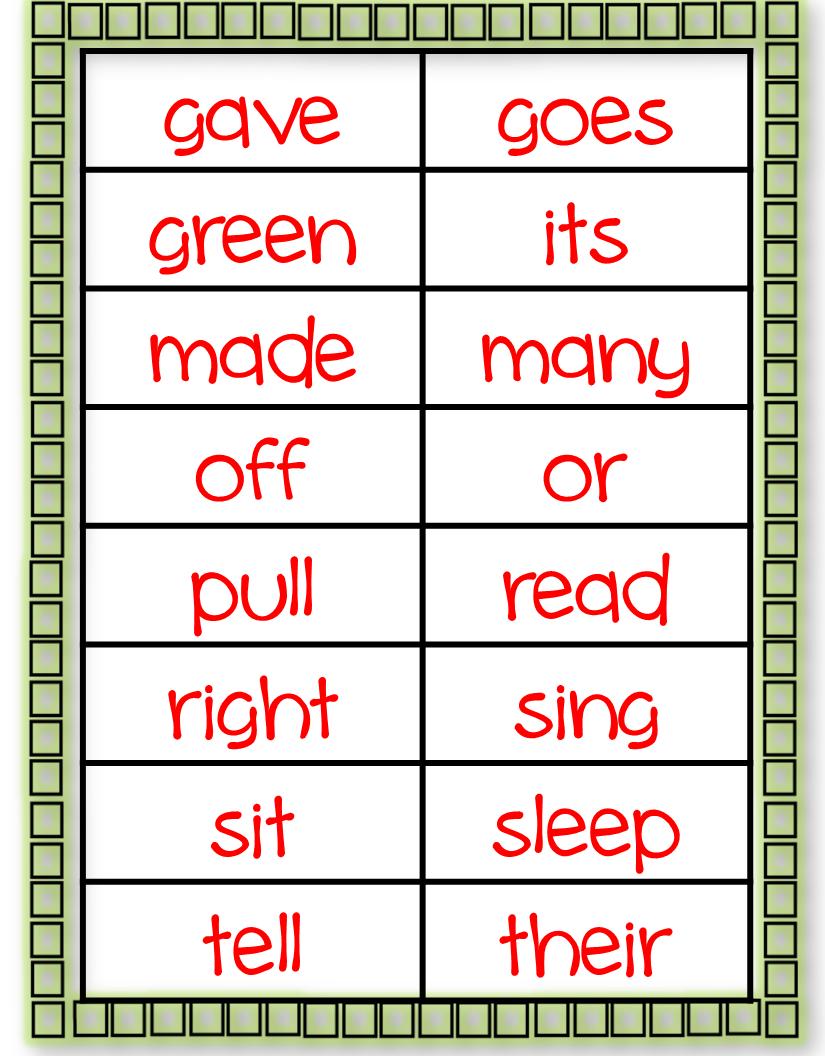 simply delightful in 2nd grade  second grade sight words