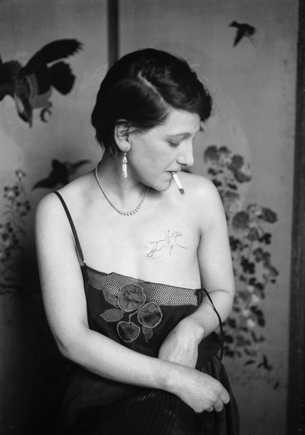 tattoo 1897 miss stella grassman bamf and tattoo artist 1930s Vintage Tattoos For Women