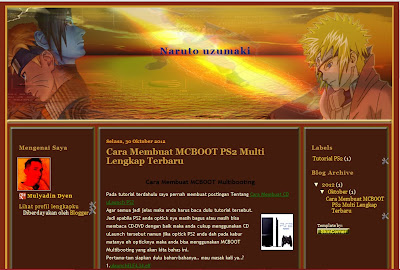 Download Template Blogger Naruto Uzumaki