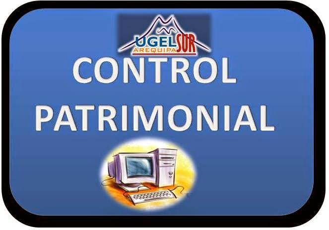 CONTROL PATRIMONIAL 2014 UGEL SUR
