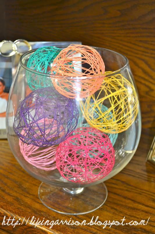 Как сделать декоративные шары из ниток 198