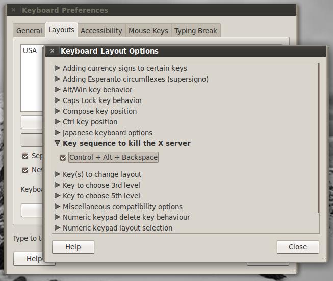 System Preference Keyboard