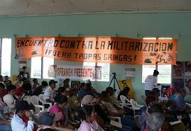 Fotos: ¡Basta de militarización, ocupación y represión en Honduras!