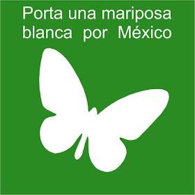 PORTA UNA MARIPOSA BLANCA POR MÉXICO