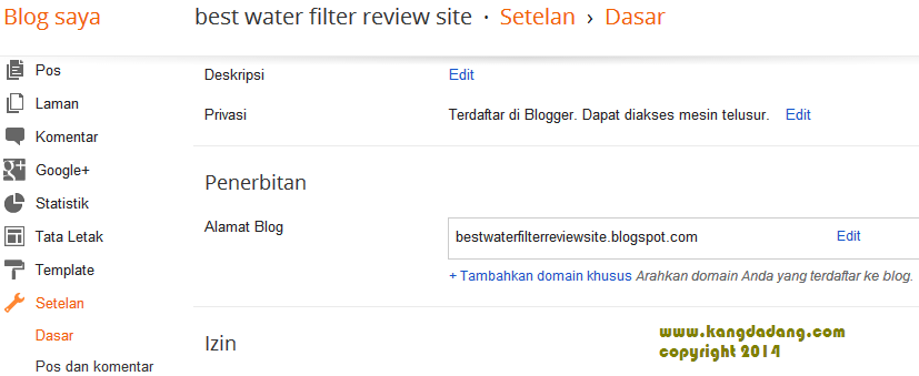 cara setting blogspot di godaddy