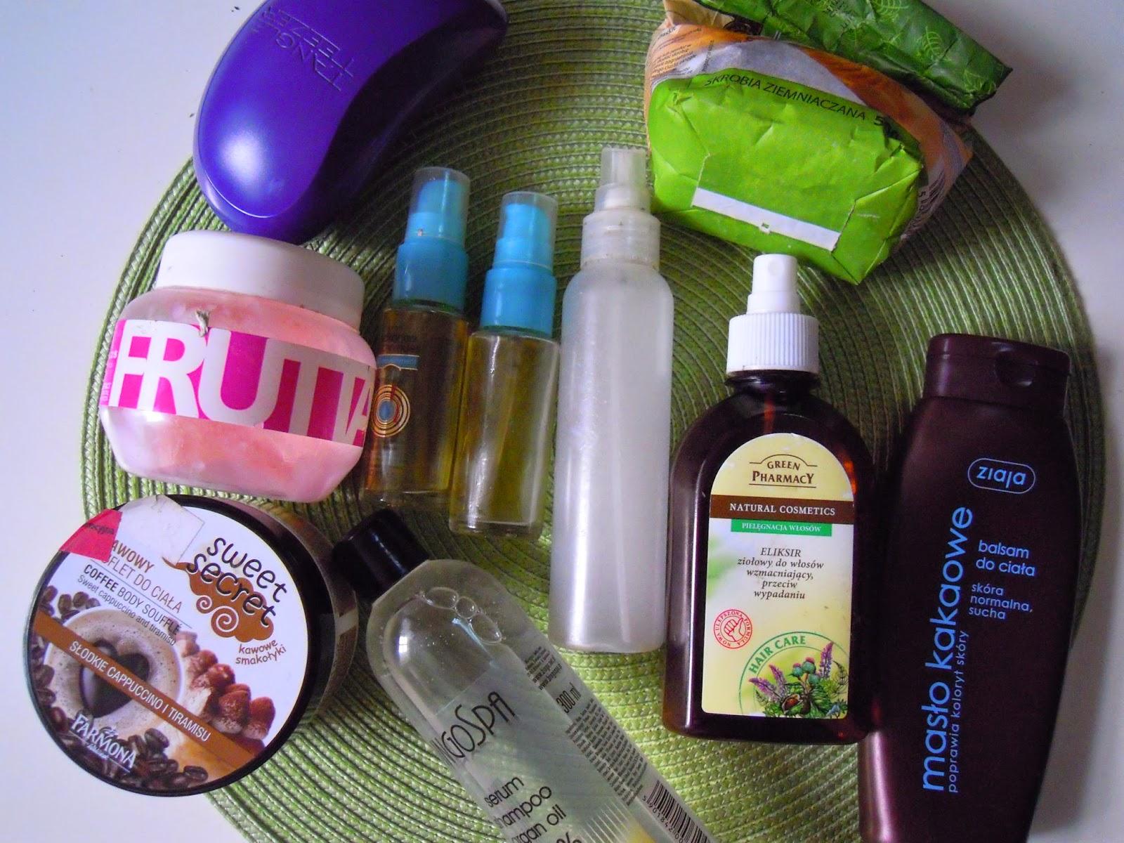 Niedziela dla włosów 8.09 czyli krem + oliwa + skrobia
