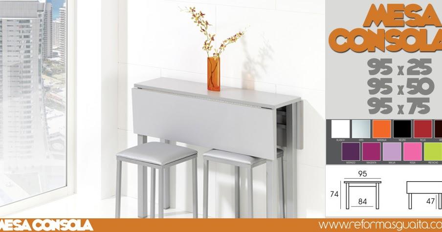 Mesa Cocina Estrecha - Diseño Belle Maison - Firmix.net