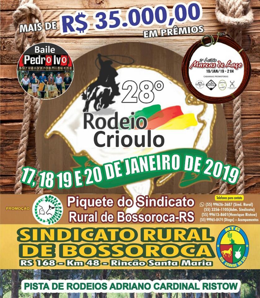 28º Rodeio Crioulo em Bossoroca