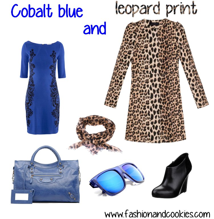 cobalt blue and leopard print - Fashion and Cookies