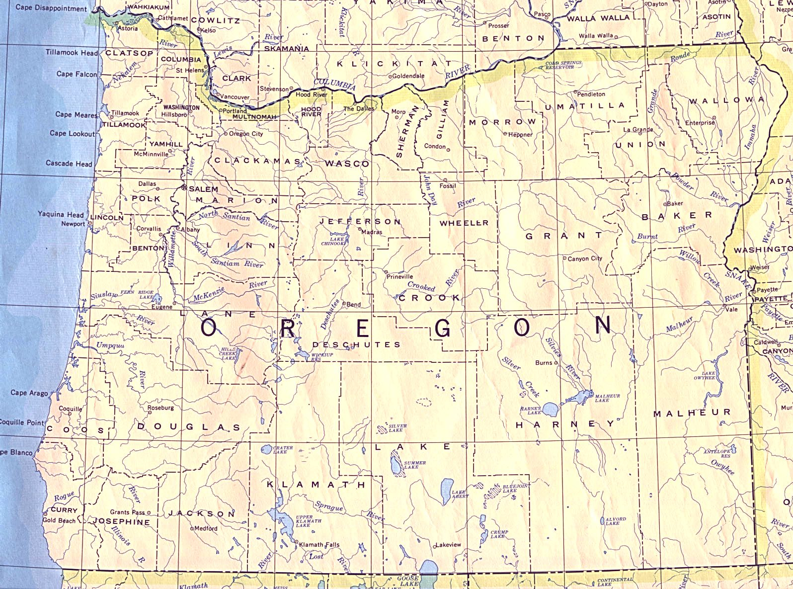Map of oregon major cities Oregon State City Map on