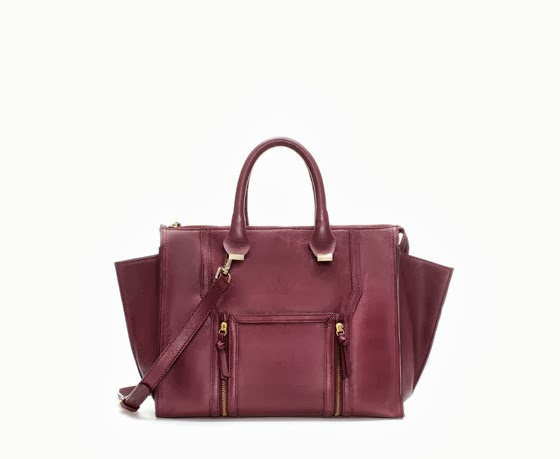 bolso de zara color granate