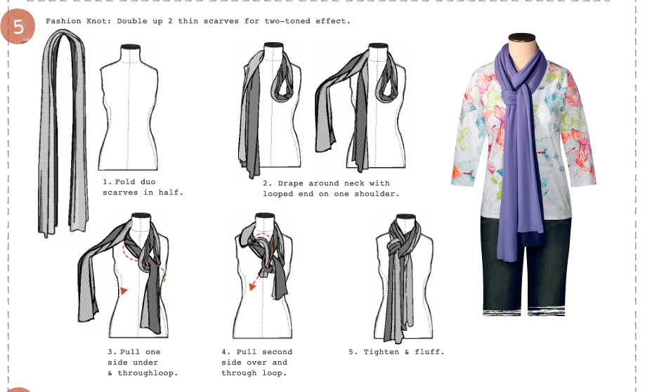 a lot of scarf tying styles use square scarves though in