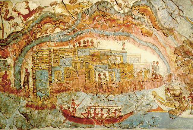 thera as depicted in a fresco