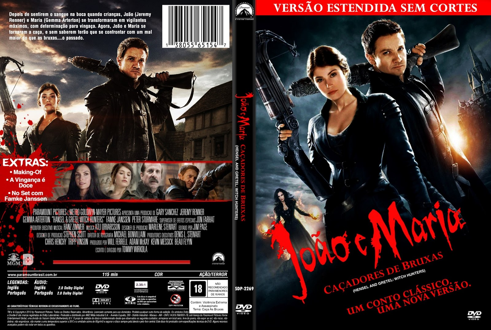 JOÃO E MARIA – CAÇADORES DE BRUXAS -  Mega Download Torrent