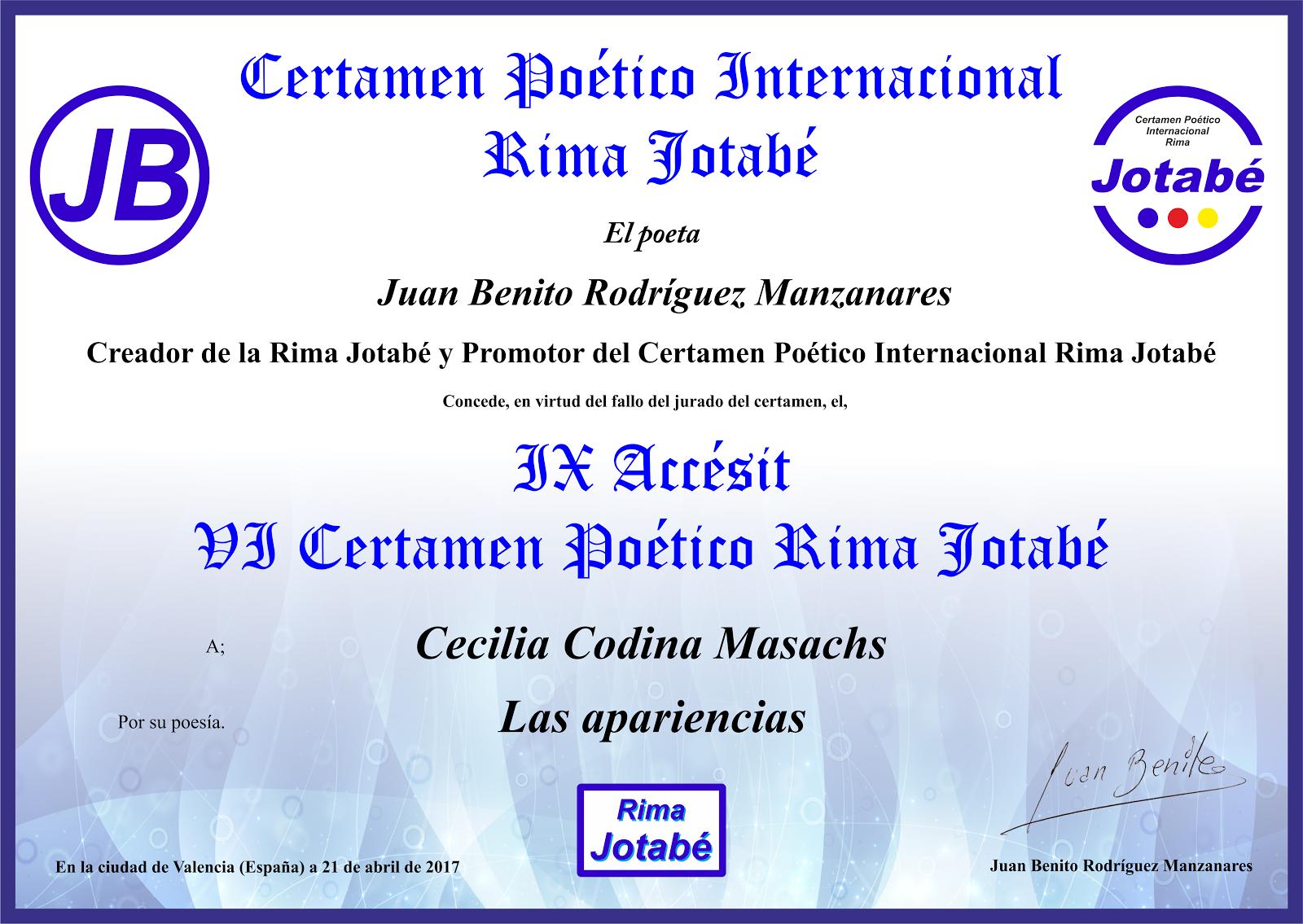 VII Certamen Internacional Rima Jotabé