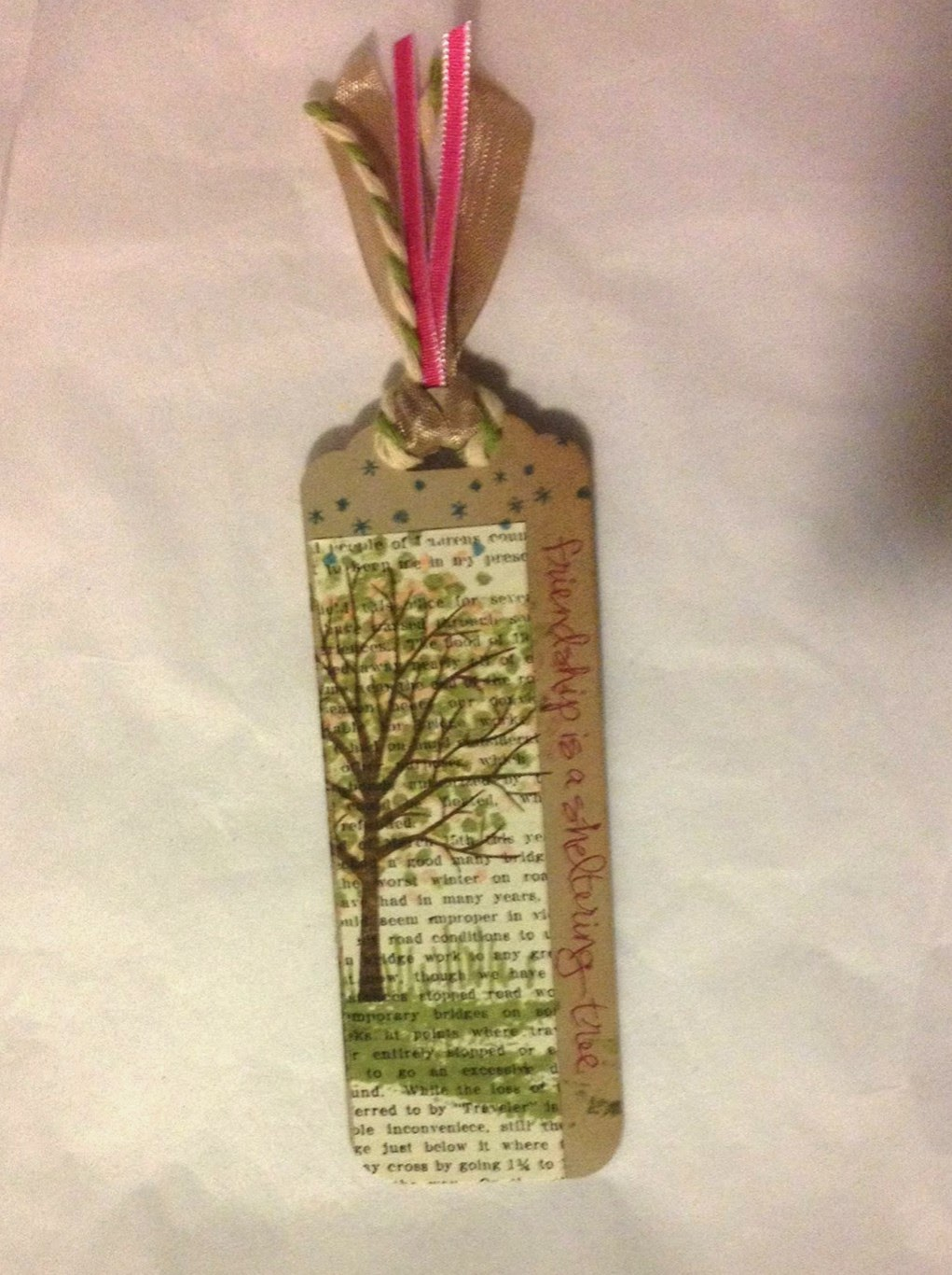 MidnightCrafting.com StampinUp Sheltering Tree Bookmark