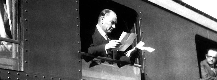 Mustafa Kemal Atatürk trende kapak resimleri