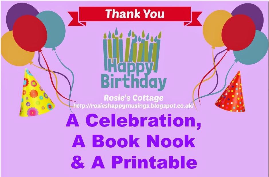 A celebration, A Book Nook & A Printable
