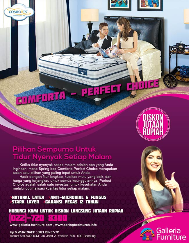 Harga Tempat Tidur Spring Bed Comforta Perfect Choice Murah