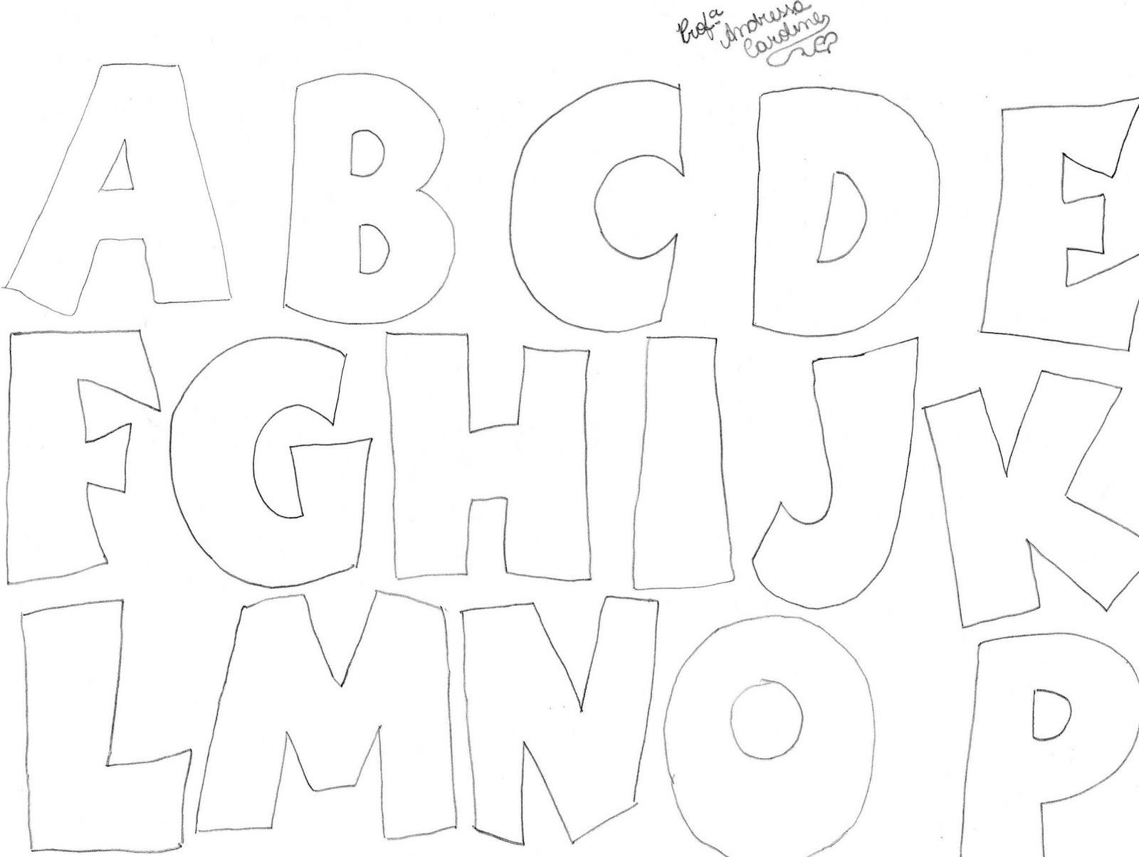 PEDAGOGIA NOTA 10: Molde de letras