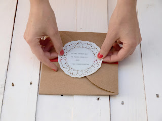 Invitación de boda escrita a máquina, handmade, diy, hecho a mano, SelfPackaging, Self Packaging, selfpacking