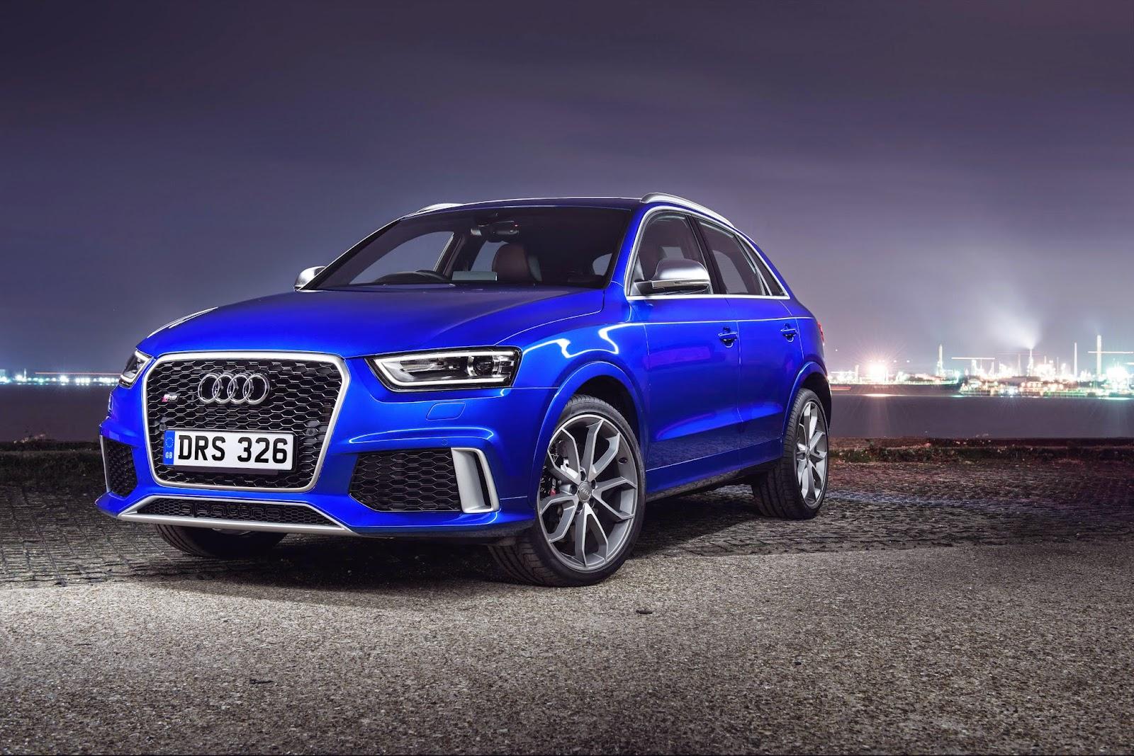 Blue Audi RSQ3