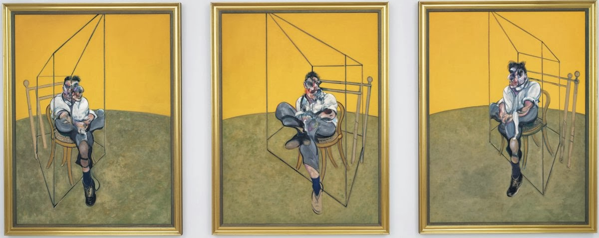 Three Studies of Lucian Freud - Francis Bacon Painting Auction Elaine Wynn - Pintura mais Cara do Mundo Leilao