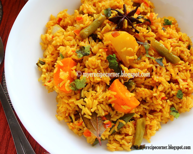 Kaikari biryani/Vegetable biryani - Zesty South Indian Kitchen