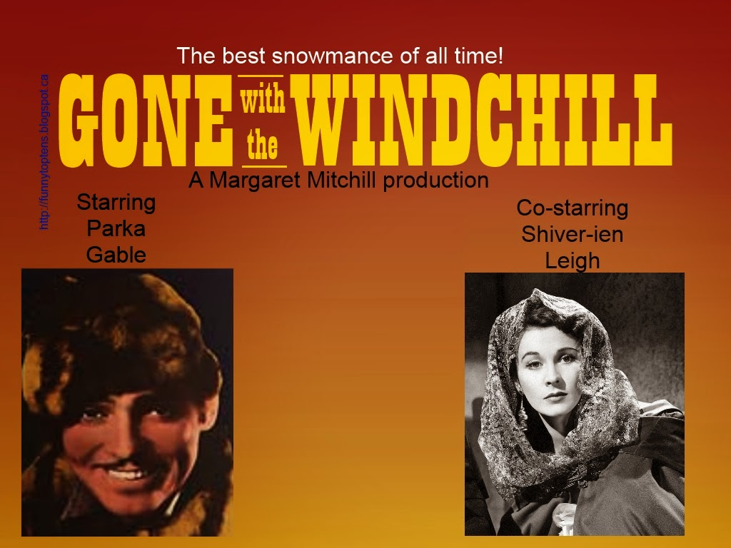 Gone with the Windchill Saskatchewan Winter Movie Poster