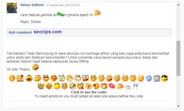 Cara Membuat Emoticon di Komentar Blog