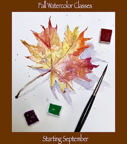 Fall  Watercolor Classes Online