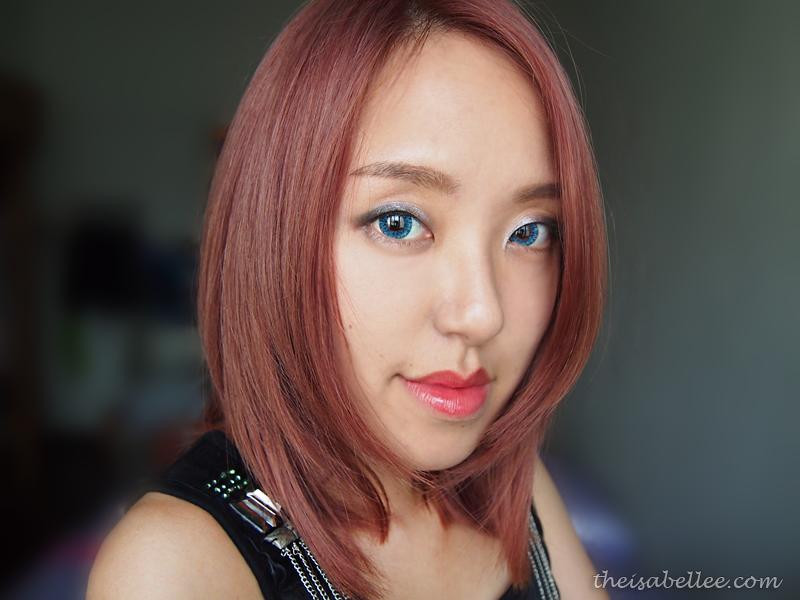 Ashy pink hair