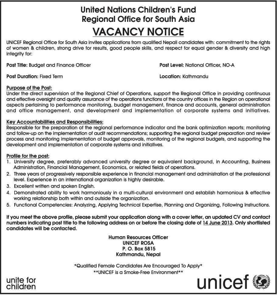 Job Application Letter Vacancy