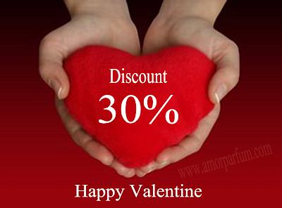 Promo discount 30%, Valentine Days, Hari Kasih Sayang