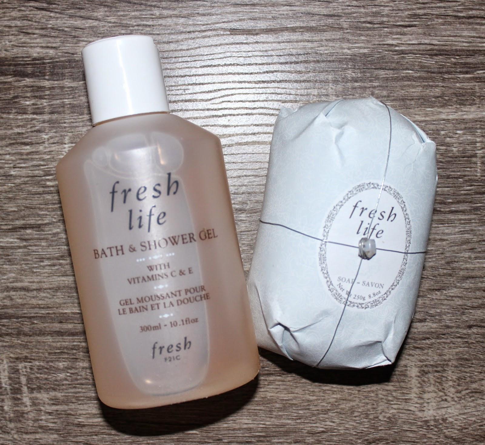 Fresh Life Bath & Shower Gel and Oval Soap
