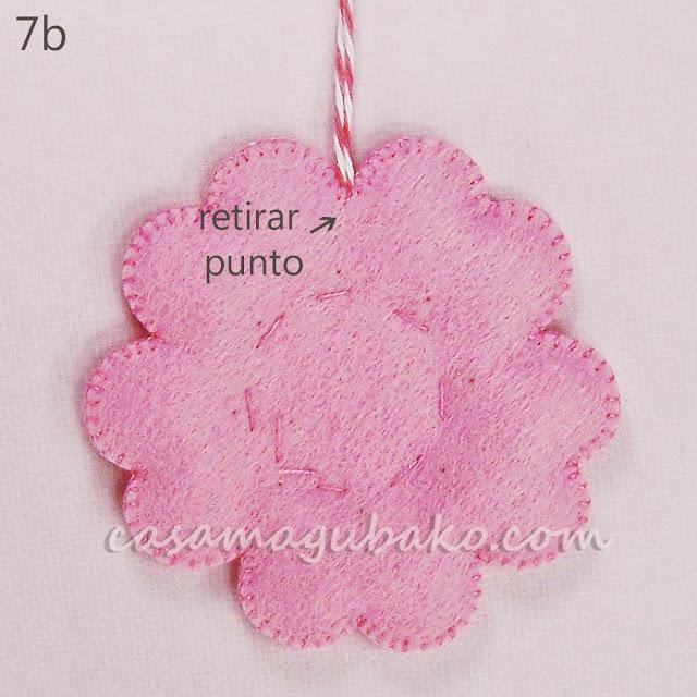 Tutorial Flor en Fieltro - Ornamento by casamagubako.com