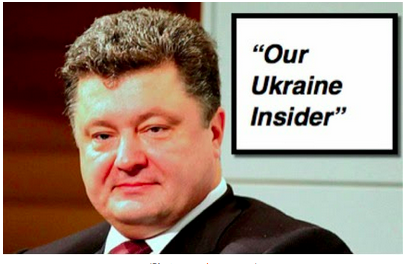 "Poroshenko, according to the US State Department (In case anyone needed reminding!): ""Our Ukraine Insider"""