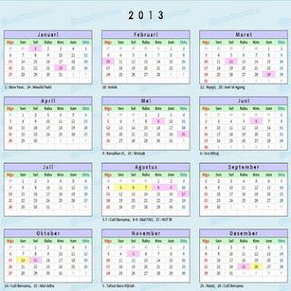 kalender hari libur cuti-bersama tahun 2013