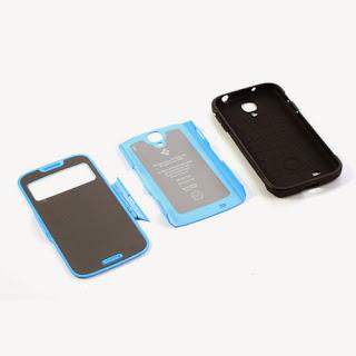 SGP Folio Cover Slim Armor S View Case for Samsung Galaxy S4 I9500 I9502 M919 - Blue