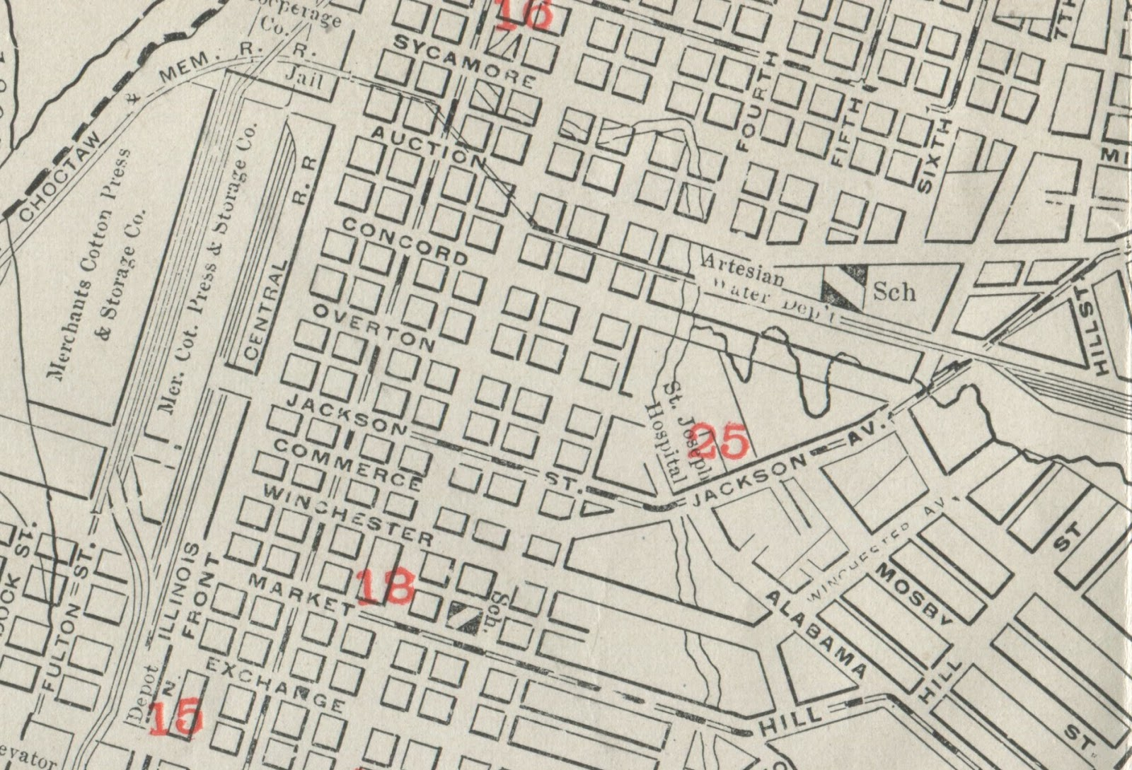 this map from 1914 shows jackson in its original form a harmless and unassuming east west street downtown that became a diagonal highway out to raleigh