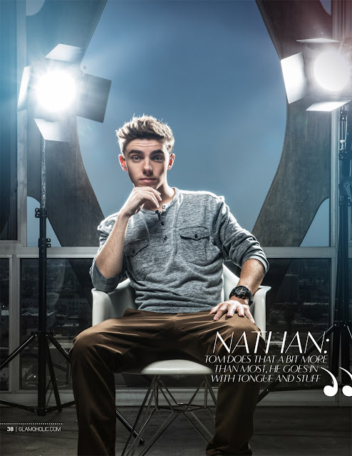 Nathan the wanted na revista Glamoholic