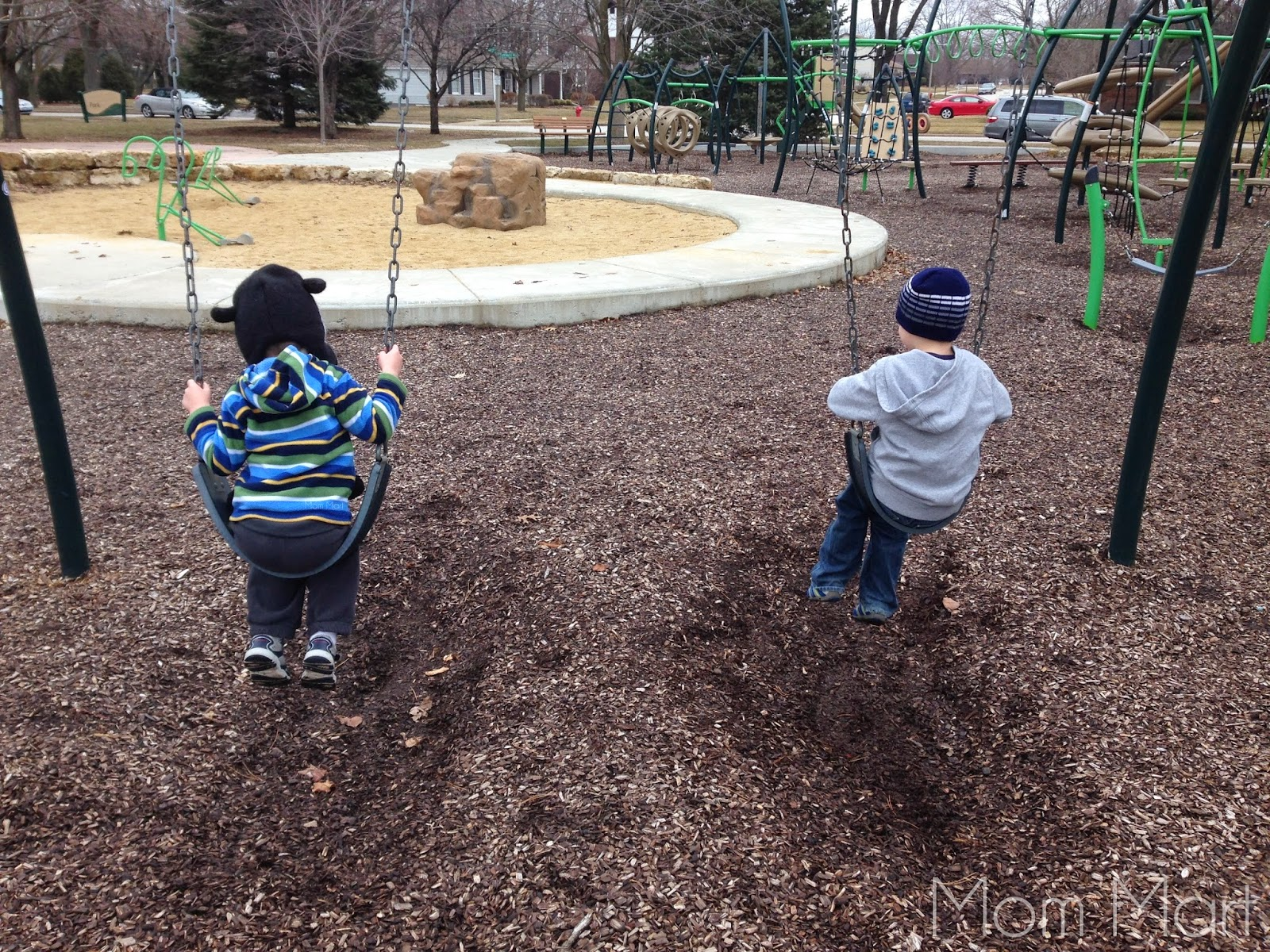 Hello Park… I've missed you  #Outdoors #PlayTime #SwingSet #Brothers #Siblings