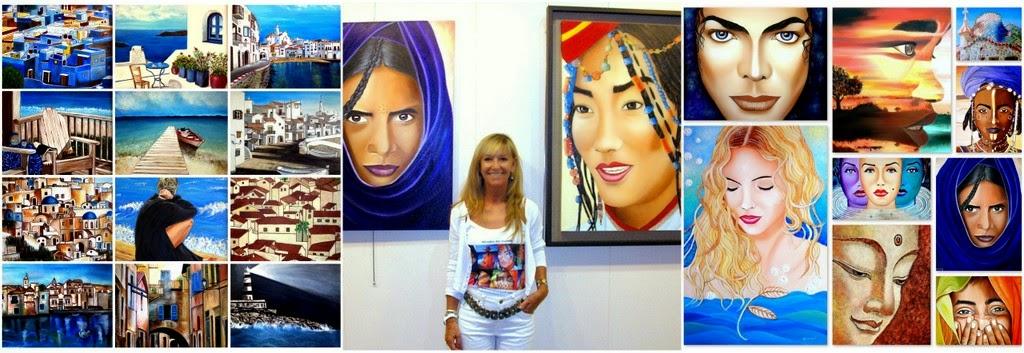 Exposición y venta de pinturas acrílicas