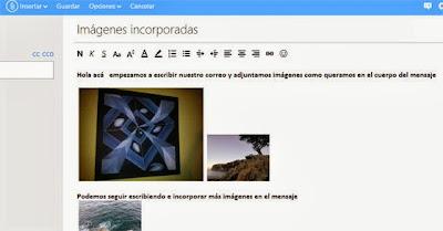 correo con imagenes icorporadas en outlook