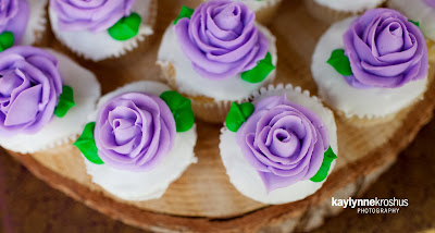 lavender rose cupcakes