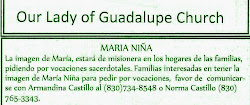 Maria Nina Misionera at Our Lady of Guadalupe Church